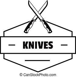 Knive logo, simple black style - Knive logo. Simple...