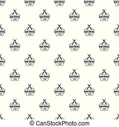 Knive war pattern vector seamless repeat for any web design