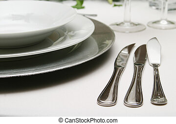 knives - Formal three course meal silverware