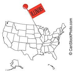 Knob Pin Illinois