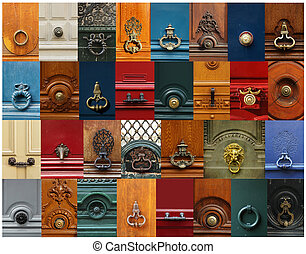 Knobs and handles collage - Collage of a variety of knockers...