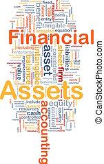 knochen, begriff, finanzielle vermögenswerte, hintergrund