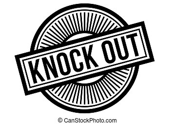 Knock Out typographic stamp. Typographic sign, badge or...