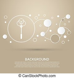 Knockout for carpets icon on a brown background with elegant style and modern design infographic. Vector