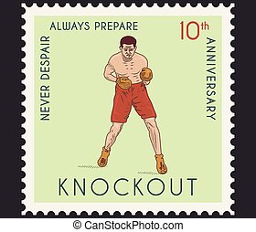 Knockout - Vector boxing knockout concept for any use