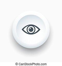 knoflík, ikona, oko, neposkvrněný, kolem