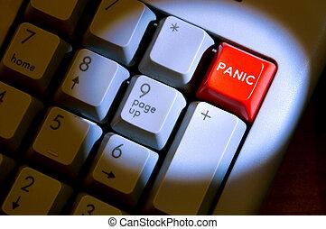 knoflík, panika