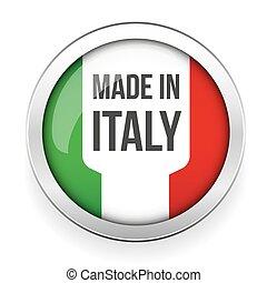knoflík, udělal, itálie