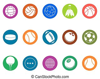 knoop, bal, set, iconen