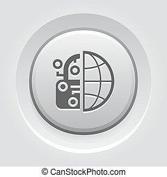 knoop, bescherming, crypto, icon., netwerk