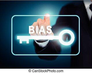knoop, bias, hand, dringend, klee, mannelijke