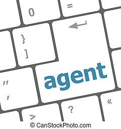 knoop, computer, agent, toetsenbord