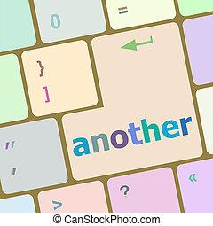 knoop, computer, een ander, klee, toetsenbord