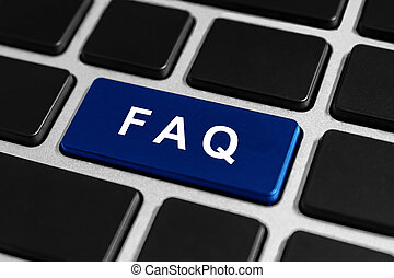 knoop, faq, of, vragen, toetsenbord, frequently, gevraagd
