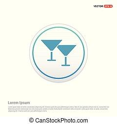 knoop, -, glas, cirkel, pictogram, witte wijn