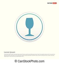 knoop, -, glas, cirkel, witte , pictogram