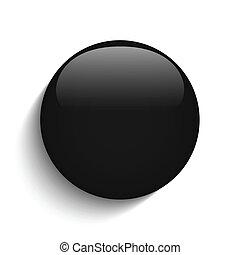 knoop, glas, zwarte achtergrond, witte cirkel
