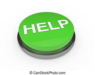 knoop, groene, helpen, 3d