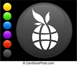 knoop, pictogram, ronde, globe, internet
