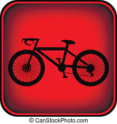 knoop, plein, fiets, pictogram, internet