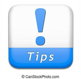 knoop, tips, behulpzaam