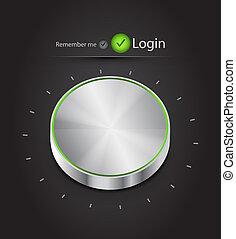 knoop, vector, login, stemmen, pagina
