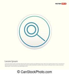 knoop, -, vergrootglas, cirkel, witte , pictogram