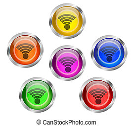 knoop, wifi, pictogram