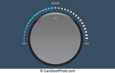 knop,  UI, knoop,  volume, Toepassingen, Muziek, technologie