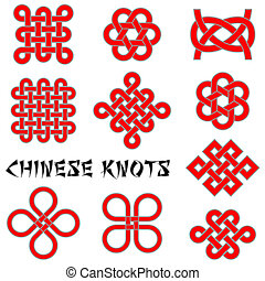 knopen, verzameling, chinees