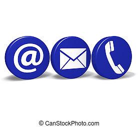 knopen, web, contacteer ons