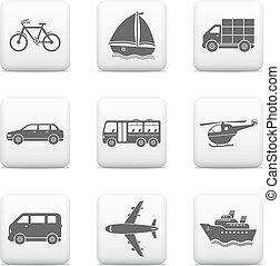 knopen, web, -, vervoeren