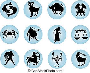 knopen, zodiac, set