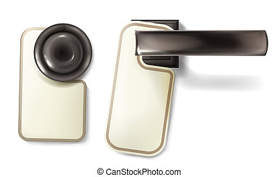 knopp, dörr, hotell, metall, illustration, vektor, handtag