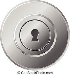 knopp, vektor, dörr, ikon