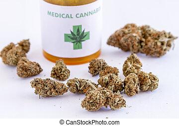 knospen, medizin, samen, marihuana