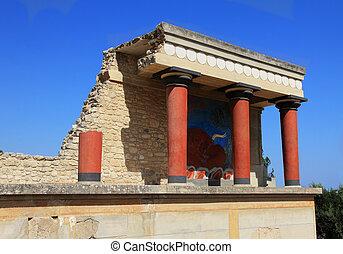 knossos, crete, 宮殿, ギリシャ