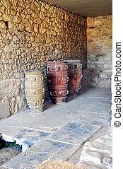 knossos., palace., standort, minoan, archäologisch, crete.