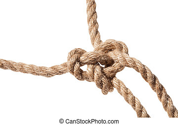 knot of Running bowline loop close up on rope - knot of ...