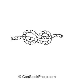 knot., vetorial, ilustração