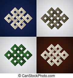 knots, keltisch, papier, vektor, endlos