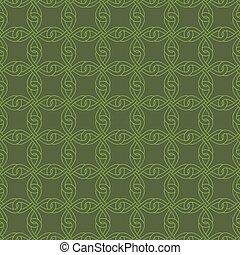 knotwork, ケルト, pattern., ニュートラル, seamless