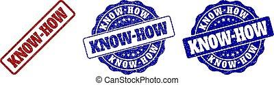 KNOW-HOW Grunge Stamp Seals