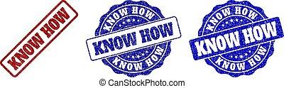 KNOW HOW Grunge Stamp Seals