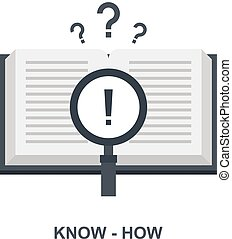 Vector illustration of know-how flat design concept.