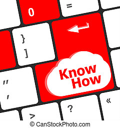 know how knowledge or education concept with button on...