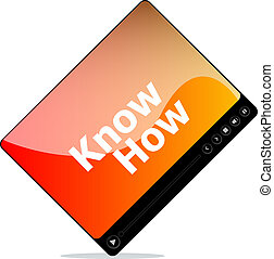 know how on media player interface