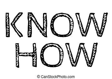 Know How typographic stamp. Typographic sign, badge or logo.