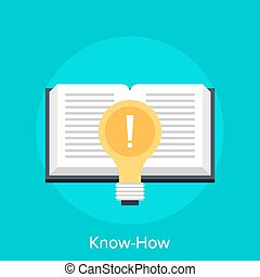 Know-How - Vector illustration of know-how flat design...