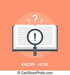 Know-How - Vector illustration of know-how flat design ...